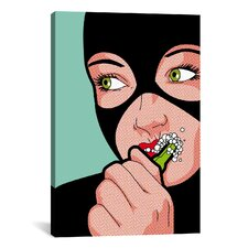 "'Cat Brush' by Gregoire ""Leon"" Guillemin Graphic Art on Wrapped Canvas"