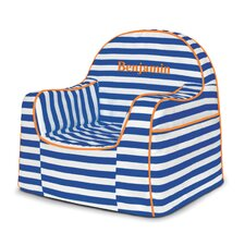 Little Reader Stripes Personalized Kids Foam Chair with Storage Compartment