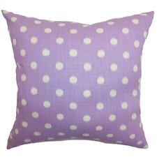 Bienville Ikat Dots Cotton Throw Pillow