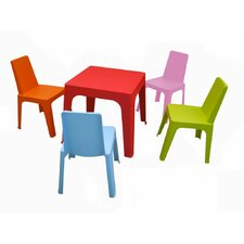 Julieta Kids 5 Piece Table and Chair Set