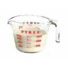 Pyrex Prepware 1 Cup Measuring Cup with Red Graphics