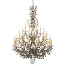 Genesis 28-Light Candle-Style Chandelier