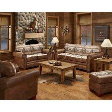 Alpine Lodge 4 Piece Living Room Set with Sleeper Sofa