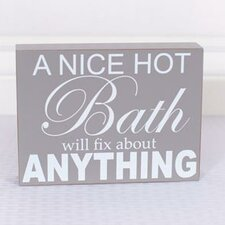 A Nice Hot Bath Wall Decor