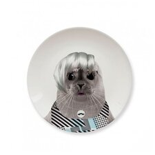 Wild Dining 17.43 cm Ceramic Dinner Plate in  Baby Seal