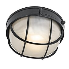 Circular 1-Light Flush mount