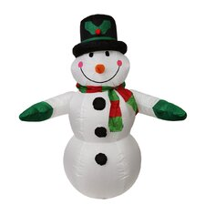Inflatable Lighted Snowman Christmas Decoration