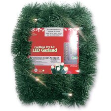 Battery Operated Artificial Christmas Garland with Lights