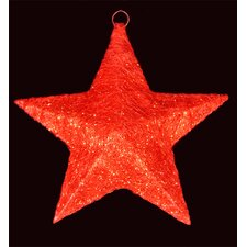 Sisal Hanging Christmas Star Yard Art or Window Decoration