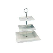 Quadratischer 3-Etagen Kuchenständer
