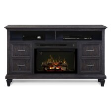 """Solomon 62"""" TV Stand with Electric Fireplace"""
