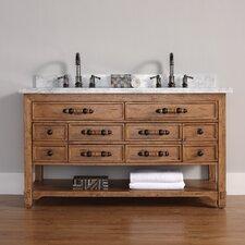 "Malibu 60"" Double Honey Alder Bathroom Vanity Set"