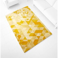 Facets Hand-Tufted Gold Area Rug