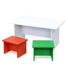 Kids 3 Pieces Table & Chair Set