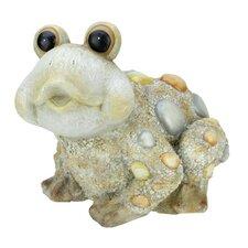 Stone-Inspired Frog Outdoor Patio Garden Planter Statue