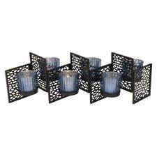 6 Piece Metal/Glass Sconce Set