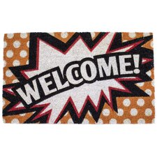 Hailey Comic Welcome Doormat
