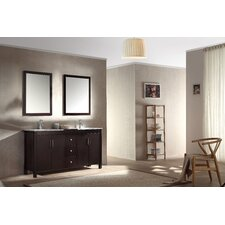 """Hanson 60"""" Double Bathroom Vanity Set with Mirror"""