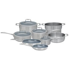 Spirit 12 Piece 3 Ply Non-Stick Stainless Steel Ceramic Cookware Set