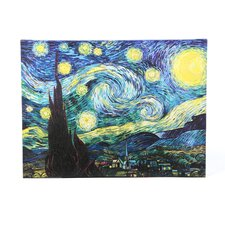 Starry Night by Vincent Van Gogh Framed Graphic Art Print on Canvas