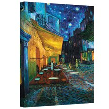 Cafe Terrace at Night' by Vincent Van Gogh Framed Graphic Art Print on Canvas