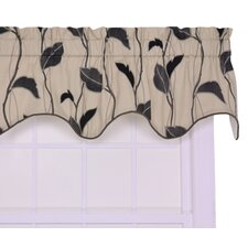 "Gwendolyn Large Scale Leaf and Vine Lined Duchess Filler 50"" Curtain Valance"
