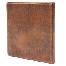 """4"""" x 4"""" Hammered Copper Tile in Oil Rubbed Bronze (Set of 8)"""