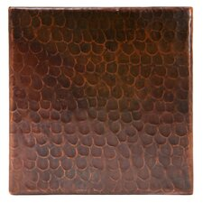 """6"""" x 6"""" Hammered Copper Tile in Oil Rubbed Bronze (Set of 4)"""