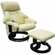 Massage Recliner and Footstool