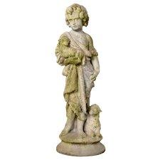 Garden Décor Shepherd Boy Statue