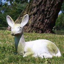 Garden Décor Sitting Deer Fawn Statue