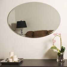 Oval Bevel Frameless Wall Mirror
