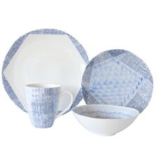 Waterfall 16 Piece Dinnerware Set, Service for 4
