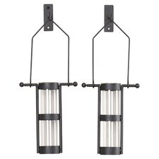 Hanging Cylinder Wall Vase (Set of 2)