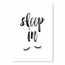 Sleep In' Textual Wall Art Poster Print