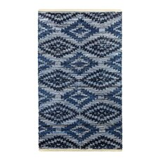 Archangel Handcrafted Blue Denim Area Rug
