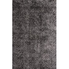 Nasir Hand-Woven Black Area Rug