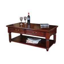 La Roque Mahogany Coffee Table with Storage