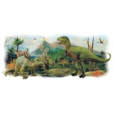 Dinosaurs Giant Scene Peel and Stick Wall Decals