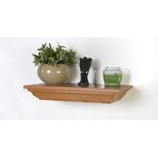 Floating Decorative Wall Shelf with Hidden and Locking Security Compartment