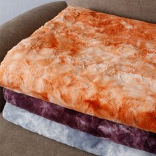 Tie Dye Double Sided Faux Fur Throw Blanket