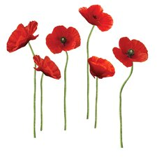 Aileu 12 Piece Poppies Wall Decal Set