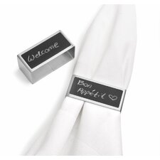 Script Napkin Ring (Set of 2)