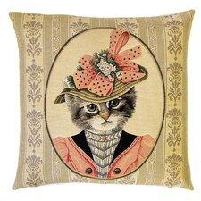 Kissenbezug Viktorianische Katze mit Hut