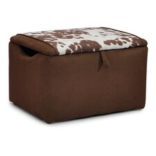 Mixy Kids Suede Ottoman with Storage Compartment