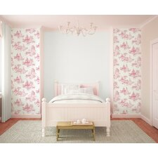 Princess 10m L x 52cm W Toile Roll Wallpaper