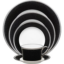 Pearl Noir Bone China 5 Piece Place Setting, Service for 1