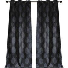 Sheila Leaf Jacquard Paisley Blackout Grommet Curtain panels (Set of 2)