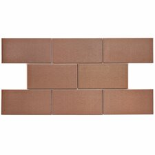 """Vulcan 3"""" x 6"""" Stainless Steel and Porcelain Subway Tile in Copper"""