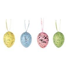 12 Piece Pastel Speckled Egg Pod Ball Ornament Set